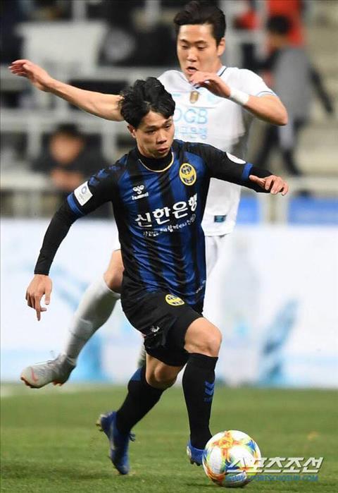 Cong Phuong khong the giup Incheon thoat thua truoc Daegu FC. Anh: MK.