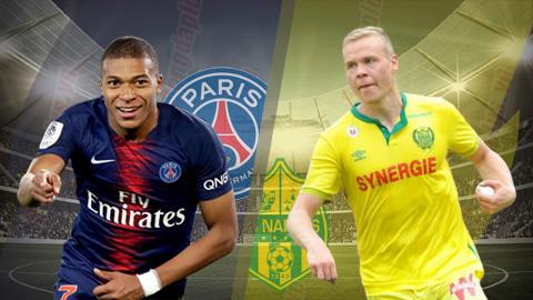 PSG vs Nantes 2h00 ngày 44 (Cúp quốc gia Pháp 201819) hình ảnh