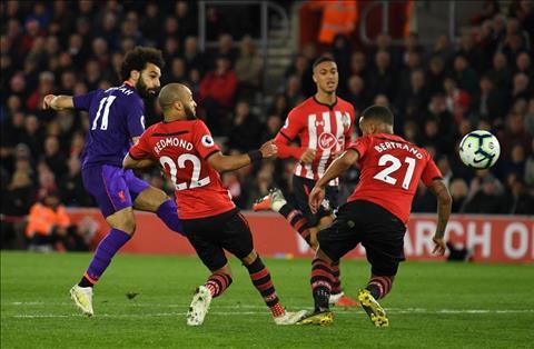 Liverpool vs Southampton Salah ghi ban