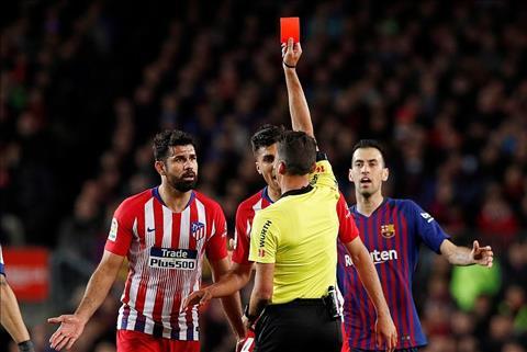 VIDEO Diego Costa nhận thẻ đỏ trong trận gặp Barca hình ảnh