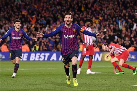 Barca vs Atletico Messi ghi ban