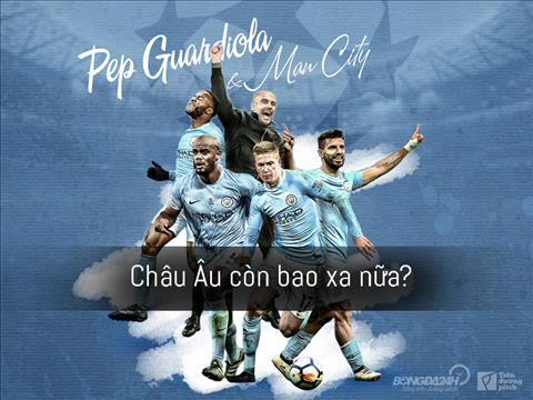 Pep Guardiola và Manchester City Châu Âu còn bao xa nữa hình ảnh