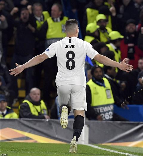Con Luka Jovic la nguoi go hoa cho Frankfurt de co 10 ban o Europa League mua nay, ngang bang voi thanh tich cua Giroud ben phia Chelsea