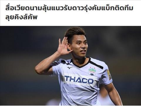 Báo Thái lo ngại Văn Thanh trở lại, sẵn sàng dự King's Cup hình ảnh