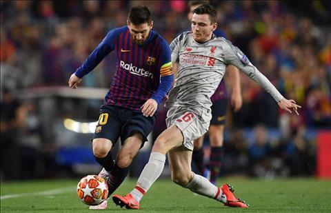 Liverpool vs Barca Robertson va Messi