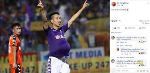 Tiền vệ Đỗ Hùng Dũng khoe tin vui sau bàn thắng cho CLB Hà Nội hình ảnh