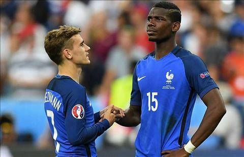 Paul Pogba và Antoine Griezmann được thầy tuyển Pháp tư vấn hình ảnh