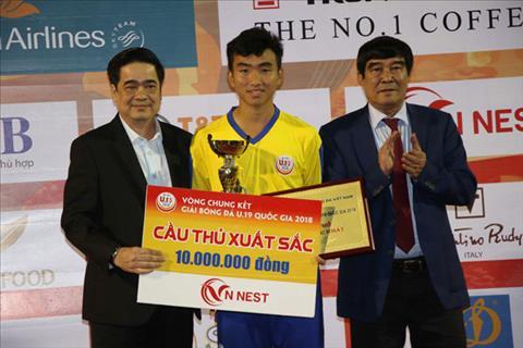 Vua giải trẻ Việt Nam Trần Công Minh tái xuất với cú hat-trick  hình ảnh