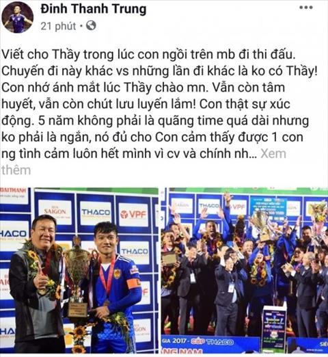 Đội trưởng Quảng Nam gửi tâm thư xúc động cho HLV Hoàng Văn Phúc hình ảnh