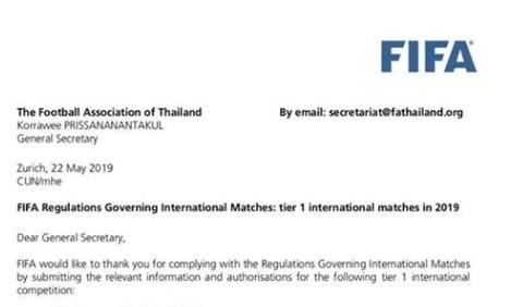 FIFA đánh giá cao giải Kings Cup của Thái Lan hình ảnh