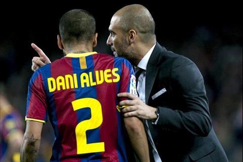 Dani Alves ca ngợi HLV Pep Guardiola hết lời hình ảnh