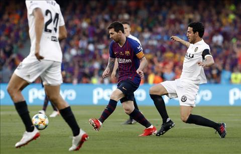 Barca vs Valencia Messi di bong