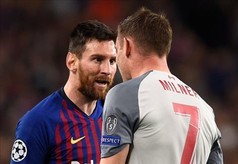 Messi gọi Milner là đồ con lừa ở trong trận Liverpool 4-0 Barca hình ảnh