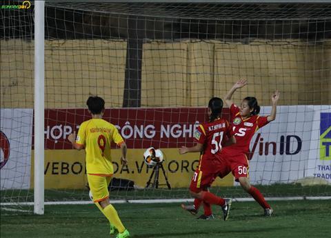 Hong Cuc sau do nang ti so len 2-0 cho PP Ha Nam.