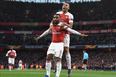 Auba va Lacazette cua Arsenal