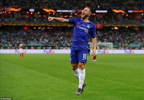 Eden Hazard tran Chelsea 4-1 Arsenal chung ket Europa League