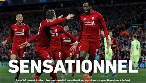Báo chí, truyền thông nói gì về trận Liverpool 4-0 Barca hình ảnh