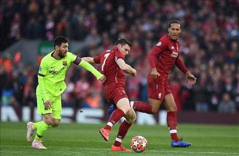 Liverpool vs Barca Messi vs Milner