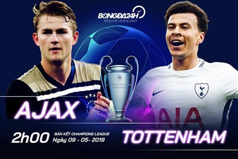 Trực tiếp Ajax vs Tottenham tường thuật bán kết Cúp C1 2019 hình ảnh