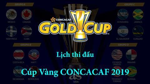 Lịch thi đấu Gold Cup 2019 - LTĐ Cúp vàng CONCACAF - ltd bóng đá hình ảnh