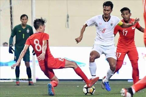 U23 Thai Lan (trang) that bai truoc Singapore o chung ket Merlion Cup 2019.