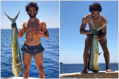 Salah khoe ảnh bắt cá khổng lồ trên mạng xã hội hình ảnh