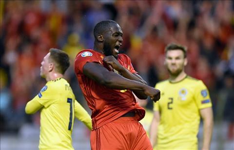 Tiền đạo Lukaku trận Bỉ 3-0 Scotland vòng loại EURO 2020 hình ảnh