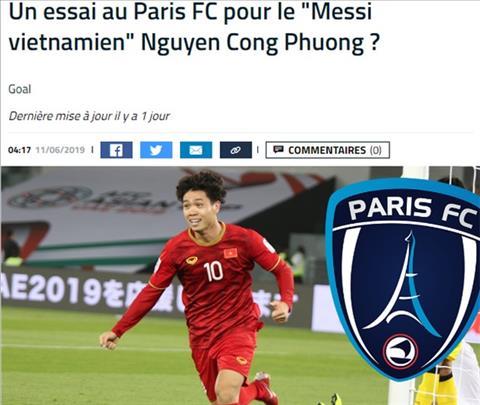 To Goal noi ve viec Cong Phuong sang Phap choi bong