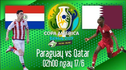 Trực tiếp Paraguay vs Qatar xem bảng B Copa America 2019 đêm nay hình ảnh