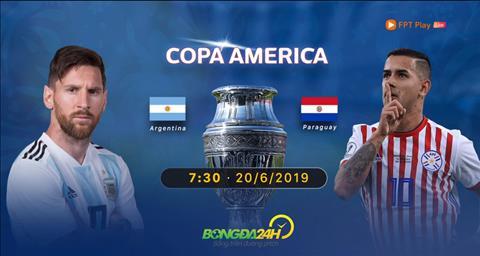 link xem argentina paraguay copa america 2019 fpt play hình ảnh