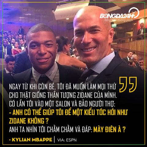 Mbappe thich hoi nhu Zidane
