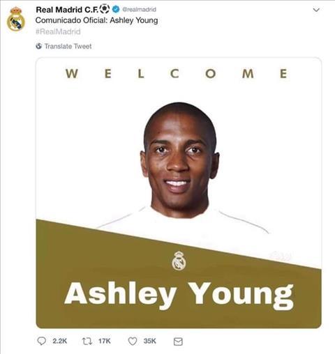 Sốc Real Madrid chiêu mộ Ashley Young từ MU hình ảnh