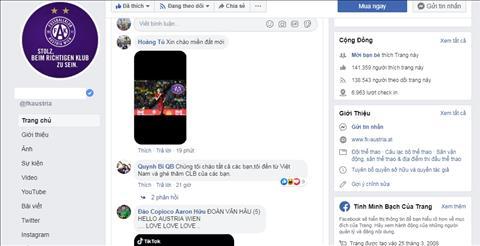 CĐV Việt làm loạn fanpage Austria Wien vì Đoàn Văn Hậu hình ảnh