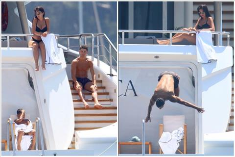 Hình ảnh Cristiano Ronaldo nghỉ hè trên du thuyền sang trọng hình ảnh