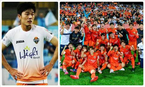 Xuan Truong tung co khoang thoi gian ngan ngui khoac ao Gangwon FC vao cuoi nam 2016