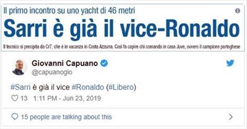 HLV Sarri là  trợ lý của Ronaldo hình ảnh