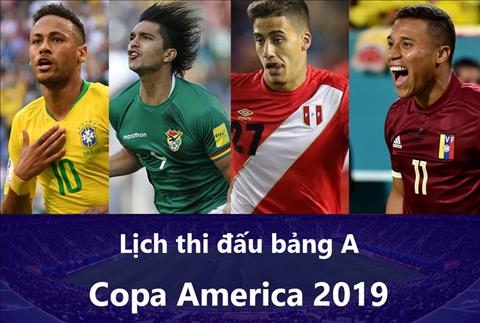 Lịch thi đấu bảng A Copa America 2019 - LTĐ Cúp bóng đá Nam Mỹ hình ảnh