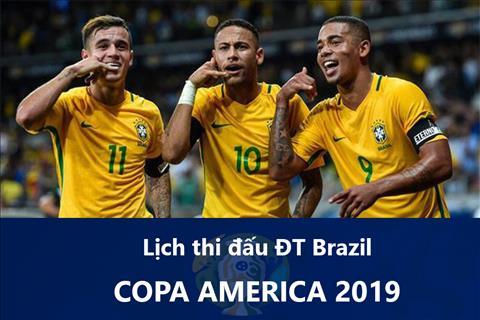 Lịch thi đấu Brazil tại Copa America 2019 - LTĐ của ĐTQG Brazil hình ảnh