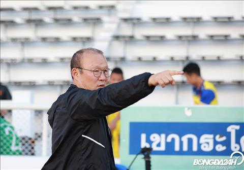 Chieu ngay 6/6, HLV Park Hang Seo va cac hoc tro chuan bi cho tran chung ket Kings Cup 2019 gap DT Curacao.