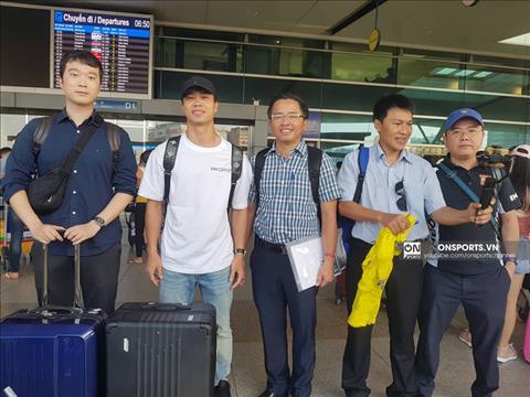 Cong Phuong chinh thuc dap chuyen bay sang Bi sang 12/7. (Anh: On Sports)