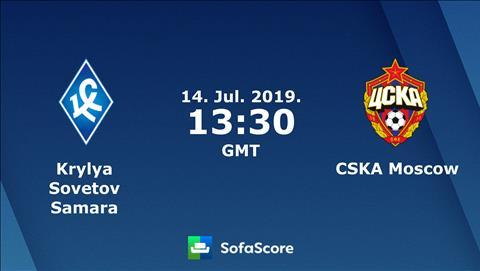 Krylya Samara vs CSKA Moscow 20h30 ngày 147 (VĐQG Nga 201920) hình ảnh