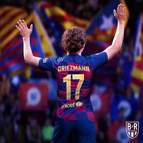 Antoine Griezmann khoac ao so 7 o Barcelona
