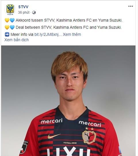 Sint- Truidense chiêu mộ thêm chân sút Nhật Bản Yuma Suzuki hình ảnh