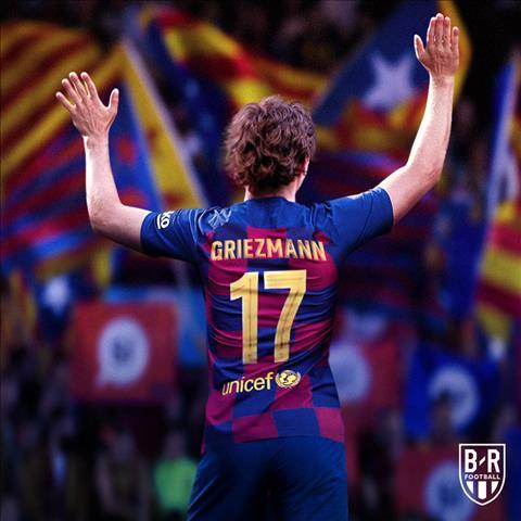 Tân binh Antoine Griezmann khoác áo số 17 ở Barca hình ảnh