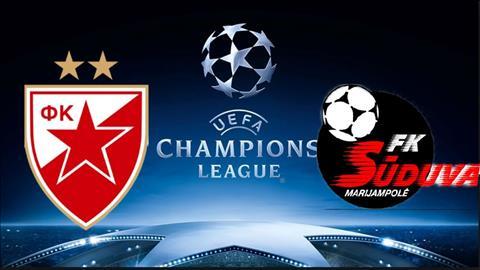 Crvena Zvezda vs Suduva 1h45 ngày 177 (UEFA Champions League 201920) hình ảnh