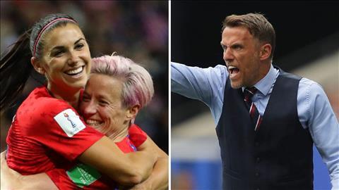 Alex Morgan ăn mừng bàn thắng trận Mỹ 2-1 Anh bán kết World Cup hình ảnh