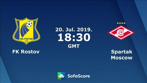 Rostov vs Spartak Moscow 1h30 ngày 217 (VĐQG Nga 201920) hình ảnh