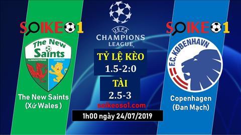 The New Saints vs Copenhagen 1h00 ngày 247 (Champions League 201920) hình ảnh