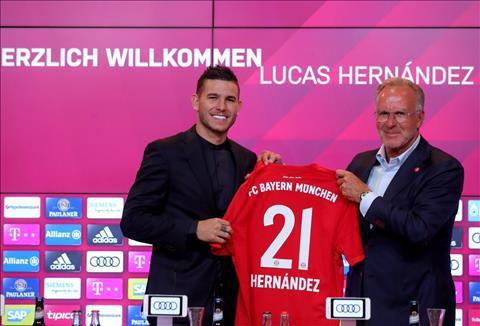 Lucas Hernandez chinh thuc ra mat Bayern Munich