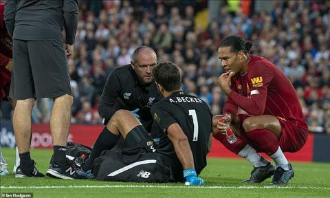 Alisson dính chấn thương sau chiến thắng của Liverpool trước Norwich hình ảnh